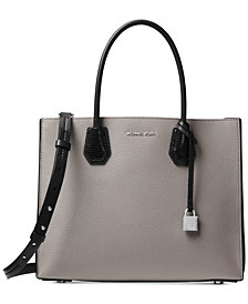MICHAEL Michael Kors Mercer Pebble Leather Lizard-Embossed Accordion Tote