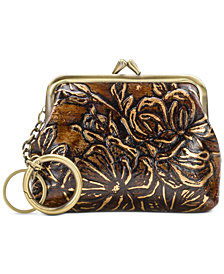 Patricia Nash Metallic Bark Leaves Coin Purse, Created for Macy's