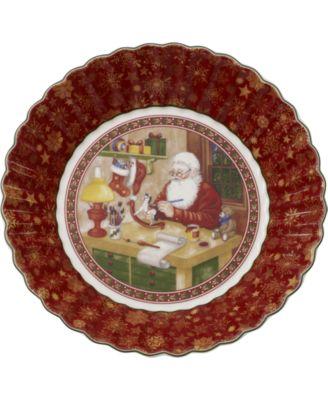 Toy's Fantasy Santa's Workshop Porcelain Large Bowl