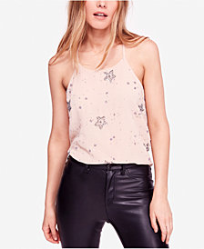 Free People Sequined Star Racerback Tank Top