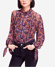 Free People All Dolled Up Printed Blouse
