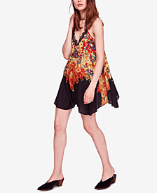 Free People Floral Haze Printed Mini Slip Dress