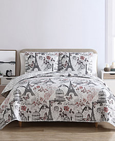 VCNY Home Paris Birds Reversible 2-Pc. Twin Quilt Set