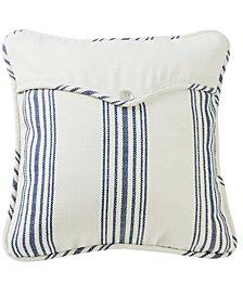 "Navy Linen Weave 18x18"" Envelope Pillow"