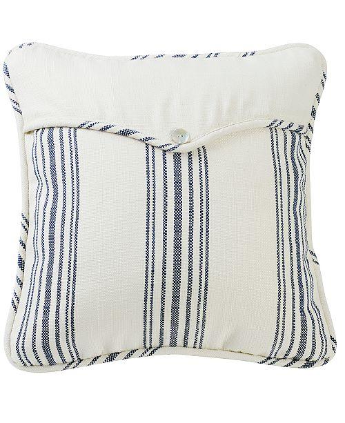 """HiEnd Accents Navy Linen Weave 18x18"""" Envelope Pillow"""