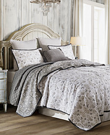 Fleur De Lis 3Pc Full/Queen Quilt Set