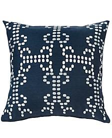Navy Linen 18x18 Decorative Pillow