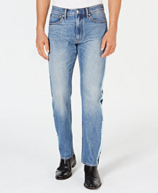 Calvin Klein Jeans Men's American Classics Straight-Fit Stretch Side Stripe Jeans, CkJ 035