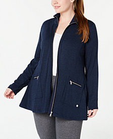 Calvin Klein Performance Plus Size Zip Jacket