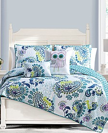 Samantha Reversible 5-Pc. King Quilt Set
