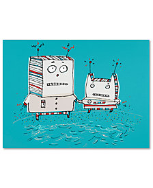 Carla Martell 'Robots on Beach' Canvas Art Print Collection