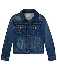 Polo Ralph Lauren Big Girls Denim Trucker Jacket
