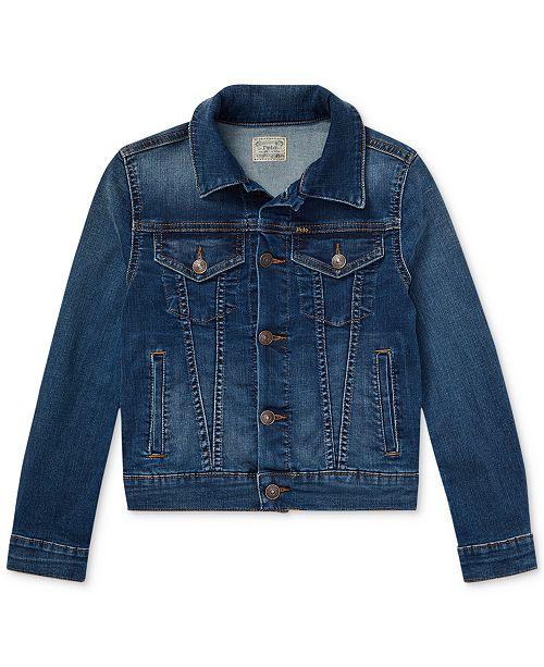 87b9899714b Polo Ralph Lauren Big Girls Denim Trucker Jacket & Reviews - Coats ...