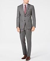16d45a22033 Tallia Men s Big   Tall Slim-Fit Stretch Gray Sharkskin Wool Suit