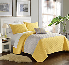 Chic Home Dominic 4 Piece Queen Quilt Set