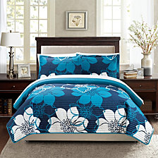Chic Home Woodside 2 Piece Twin Quilt Set