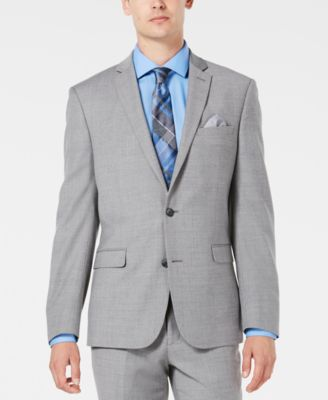 Men's Slim-Fit Stretch Flannel Suit Jacket, Created for Macy's