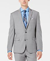 Bar III Men's Slim-Fit Stretch Flannel Suit Jacket, Created for Macy's