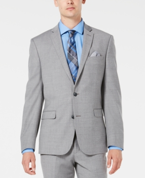 Image of Bar Iii Men's Slim-Fit Stretch Flannel Suit Jacket, Created for Macy's