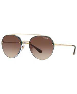 VOGUE Eyewear Sunglasses, Vo4113S 54 in Pale Gold / Brown Gradient