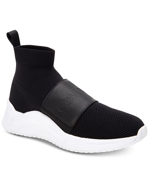d75b4eca7c26a Calvin Klein Women s Uni Stretch Knit Sneakers   Reviews ...