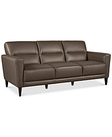 "Tosella 80"" Leather Sofa, Created for Macy's"