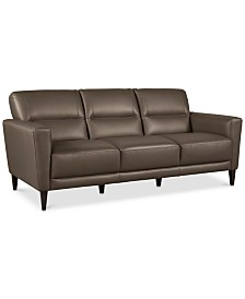 """Tosella 80"""" Leather Sofa, Created for Macy's"""