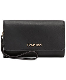 Calvin Klein Leather Wristlet