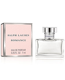 Receive a Complimentary Romance Deluxe Mini with any large spray purchase from the Ralph Lauren Romance fragrance collection