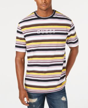 GUESS Originals Men'S Ashton Striped Logo T-Shirt in Ashton Stripe Navy Multi