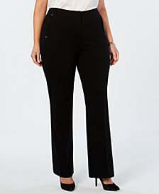 Alfani Plus Size Comfort-Waist Pants, Created for Macy's