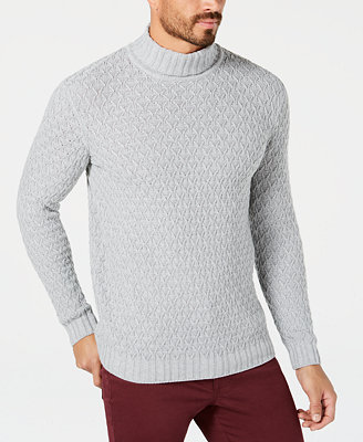 Men's Cable Knit Turtleneck Sweater, Created For Macy's by Tasso Elba