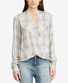 Lauren Ralph Lauren Plaid Twill Top
