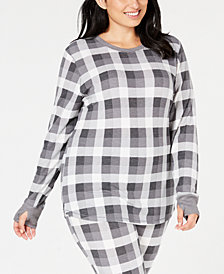 Cuddl Duds Plus Size Long-Sleeve Waffle Thermal Top