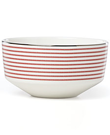 kate spade new york Laurel Street Collection Red Soup/Cereal Bowl