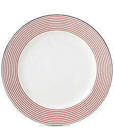kate spade new york Laurel Street Collection Red Dinner Plate