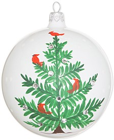 Vietri Lastra Holiday Tree Glass Ornament