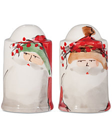 VIETRI Old St. Nick 2-Pc. Salt & Pepper Shaker Set