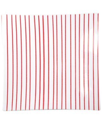 Stripe Red Square Platter