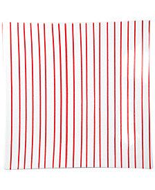 VIETRI Stripe Red Square Platter