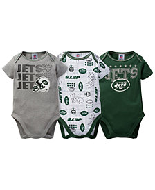 Gerber Childerenswear New York Jets 3 Pack Creeper Set, Infants (0-9 Months)