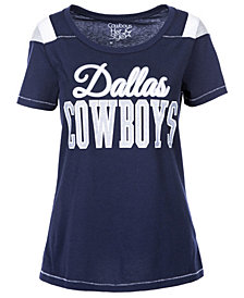 Authentic NFL Apparel Women's Dallas Cowboys Flapper Glitter T-Shirt