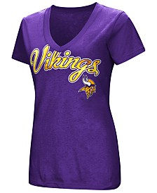 G-III Sports Women's Minnesota Vikings Tailspin Script Foil T-Shirt