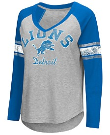 G-III Sports Women's Detroit Lions Sideline Long Sleeve T-Shirt