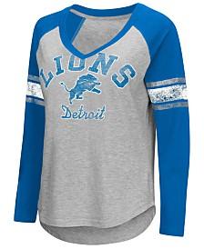 G-III Sports Women's Detroit Lions Sideline Long Sleeve T-Shirt