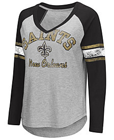 G-III Sports Women's New Orleans Saints Sideline Long Sleeve T-Shirt