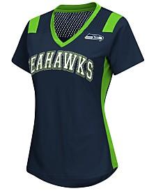 G-III Sports Women's Seattle Seahawks Wildcard Jersey T-Shirt