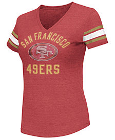 G-III Sports Women's San Francisco 49ers Wildcard Bling T-Shirt