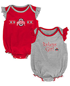 Outerstuff Ohio State Buckeyes Homecoming Creepers 2 Pack, Infants (0-9 Months)