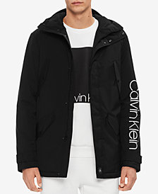 Calvin Klein Men's Hooded Logo Jacket